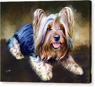 Terrier Canvas Print by Ellens Art