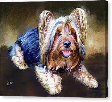 Terrier Canvas Print by Ellens Art