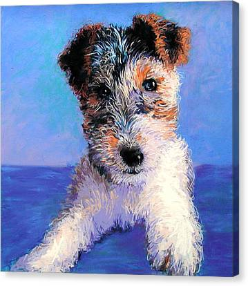 Terrier Canvas Print by Lynee Sapere