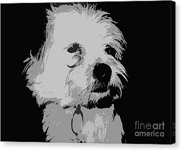 Terrier Poster Canvas Print by Reb Frost
