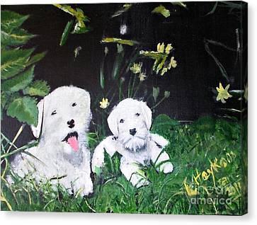Terriers' Farm Pals. Canvas Print by Francine Heykoop