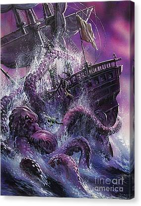 Terror From The Deep Canvas Print by Oliver Frey
