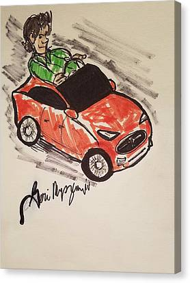 Tesela Electric Car Canvas Print by Geraldine Myszenski