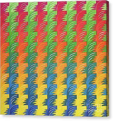 Tessellation Canvas Print by Jacqueline Phillips-Weatherly