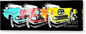 Edsel Triple Threat Pop Art Canvas Print