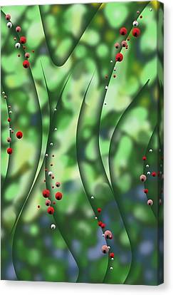 Blurred Lines 01 - Floral Inclinations Canvas Print