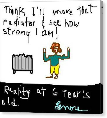 Testing Reality At 6 - 1 Of 2 Canvas Print by Lenore Senior