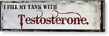 Fill Canvas Print - Testosterone by Mindy Sommers