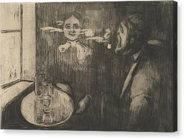 Tete-a-tete Canvas Print by Edvard Munch