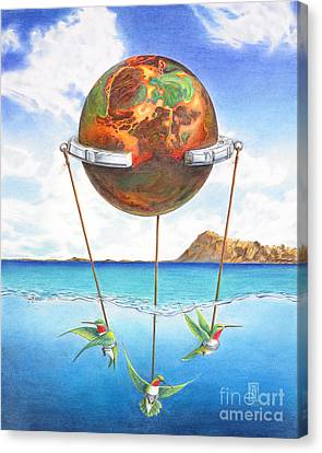 Tethered Sphere Canvas Print by Melissa A Benson