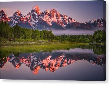 Teton Awakening  Canvas Print