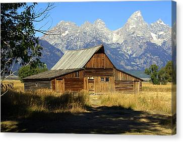 Teton Barn 4 Canvas Print by Marty Koch