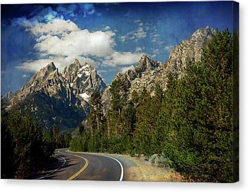Teton Grande 11 Canvas Print by Marty Koch