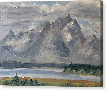 Teton Morn Canvas Print by Zanobia Shalks