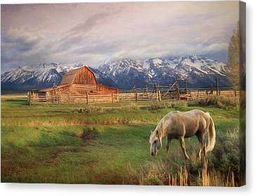 Teton Ranch Canvas Print by Lori Deiter