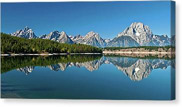 Canvas Print featuring the photograph Teton Reflections II by Gary Lengyel