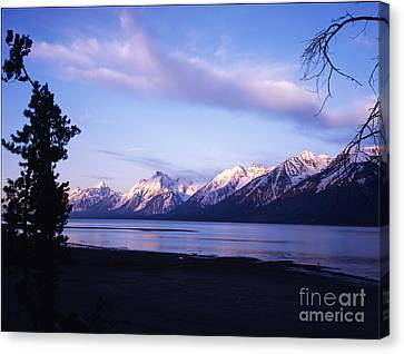 Teton Sunset Canvas Print