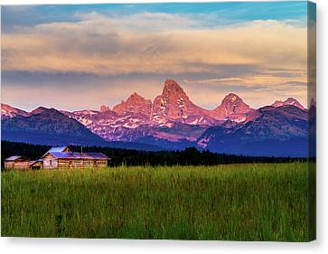 Teton Valley Sunset Canvas Print by TL  Mair