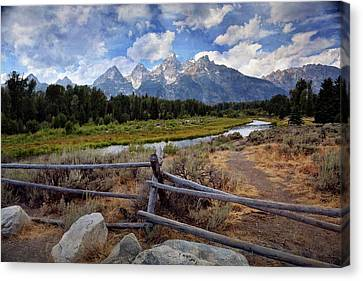 Tetons Grande 3 Canvas Print by Marty Koch