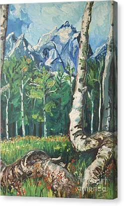 Tetons Canvas Print by Susan Brown    Slizys art signature name