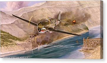 Tex Hill Over The Salween Gorge Canvas Print by Marc Stewart