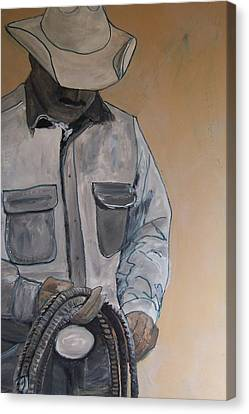 Canvas Print featuring the painting Tex by Krista Ouellette