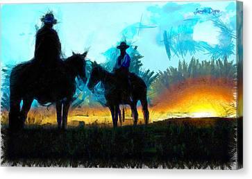 Heat Canvas Print - Texan Lifestyle - Da by Leonardo Digenio