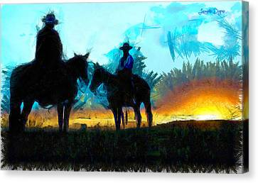 Texan Lifestyle - Pa Canvas Print