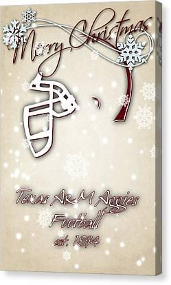Texas Am Aggies Christmas Card 2 Canvas Print