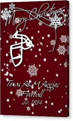 Texas Am Aggies Christmas Card Canvas Print