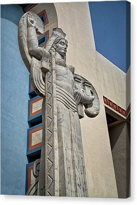 Canvas Print featuring the photograph Texas Art Deco Sculpture by David and Carol Kelly