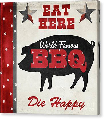 Texas Barbecue II Canvas Print by Mindy Sommers