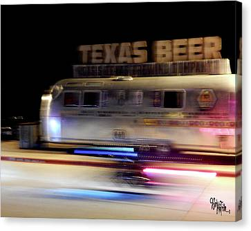 Texas Beer Fast Motorcycle #5594 Canvas Print