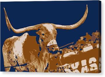 Texas Bevo Color 6 Canvas Print by Scott Kelley