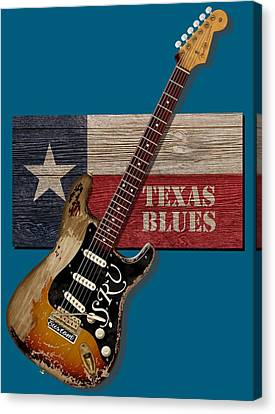 Texas Blues Shirt Canvas Print
