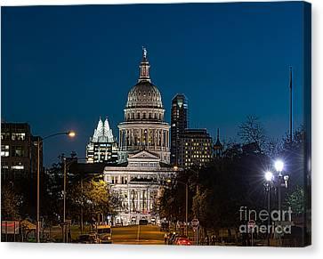 Texas Capital Skyline Canvas Print