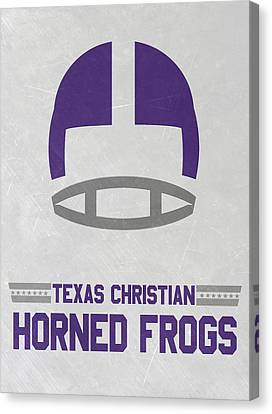 March Canvas Print - Texas Christian Horned Frogs Vintage Football Art by Joe Hamilton