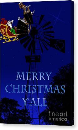Texas Christmas Card Canvas Print