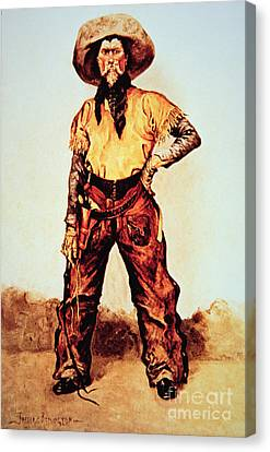 Texas Cowboy Canvas Print by Frederic Remington