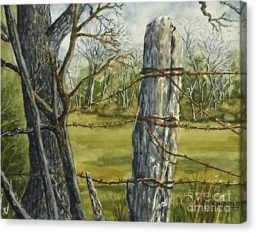 Texas Fence Post Canvas Print by Don Bosley