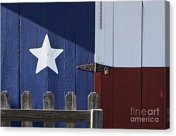 Texas Flag Painted On A House Canvas Print by Jeremy Woodhouse