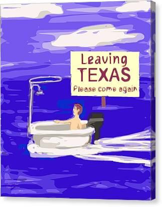 Texas Flood Canvas Print by Larry E Lamb