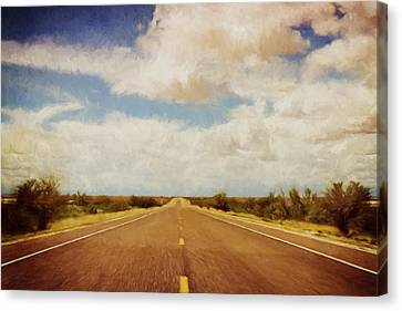 Impression Canvas Print - Texas Highway by Scott Norris