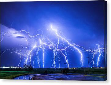 Texas Light Show Canvas Print