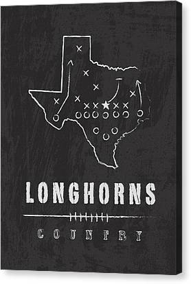 Texas Longhorns Country Canvas Print by Damon Gray