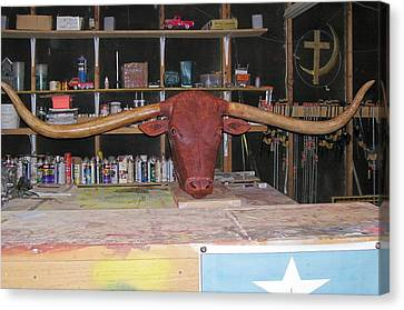 Texas Monster Longhorn Canvas Print by Michael Pasko