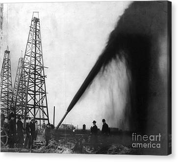 Texas: Oil Derrick, C1901 Canvas Print by Granger
