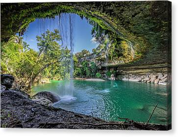 Natural Pool Canvas Print - Texas Paradise by Jonathan Davison