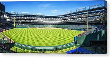 Texas Rangers Ballpark Waiting For Action Canvas Print by Joan Carroll