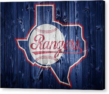 Texas Rangers Barn Door Canvas Print by Dan Sproul